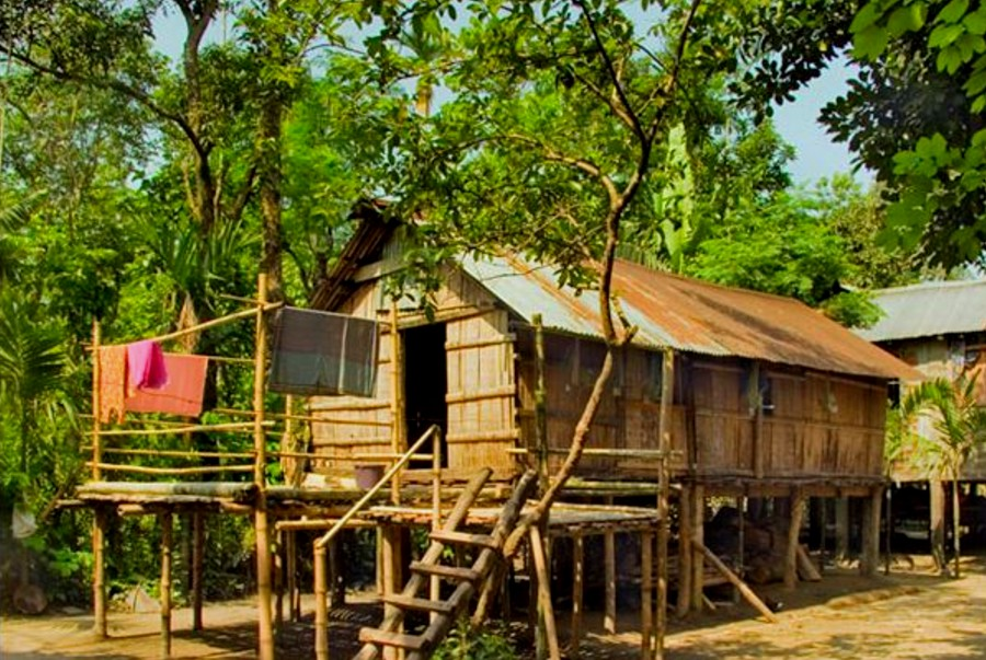 Khasia-Punji-house