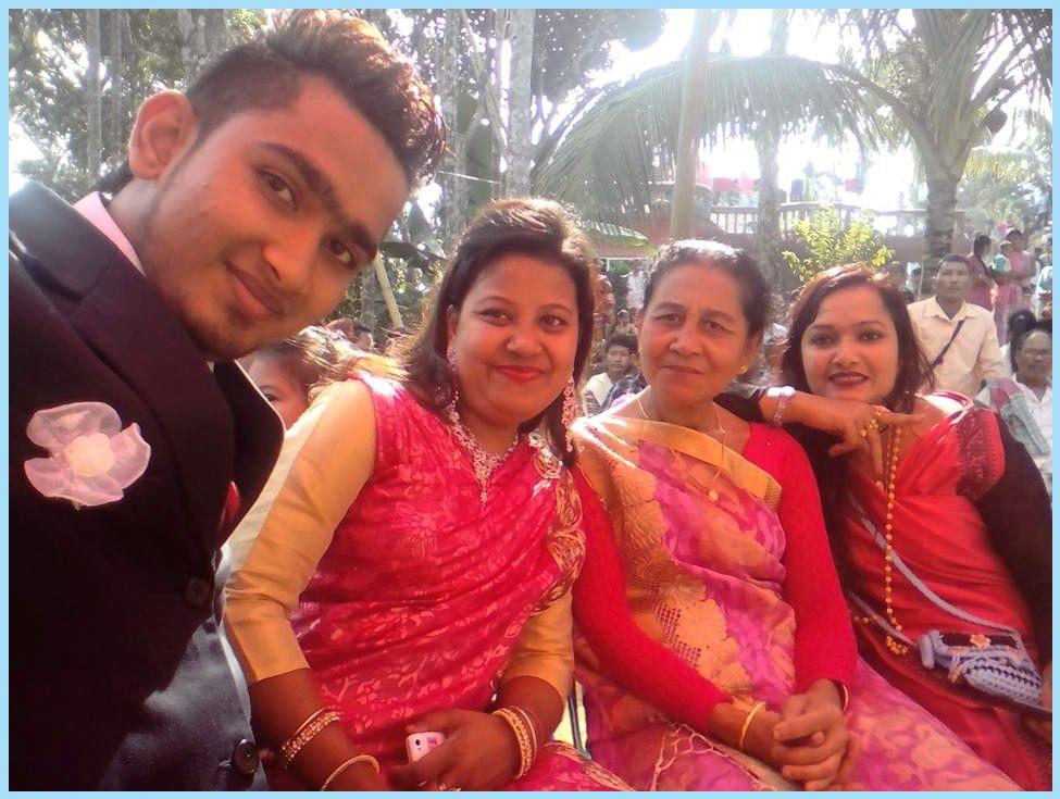 bishal with family-khasia jaintapur