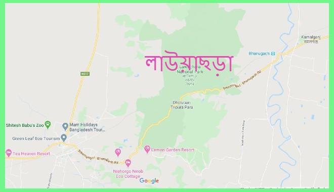 lawachara-location-map-লাউয়াছড়া-ম্যাপ